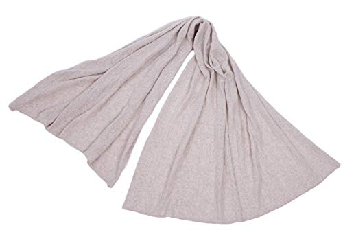 cashmere 4 U 100% Pure Cashmere Throw Blanket Travel Wrap Ultimate Soft Cozy Cable Knit- 70 inch x 40 inch