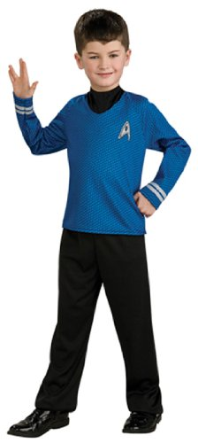 Star Trek Movie Child's Blue Shirt Costume with Dickie and Pants, Medium