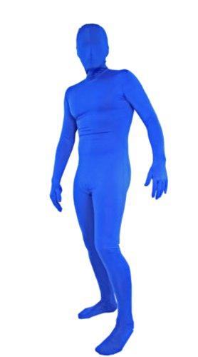 Blueman Costumes - Seeksmile Unisex Blue Zentai Full Bodysuit