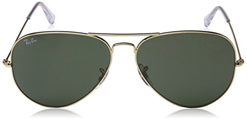 Ray-Ban Men's Large Metal Ii Aviator Sunglasses, Shiny Bronze, 62 mm