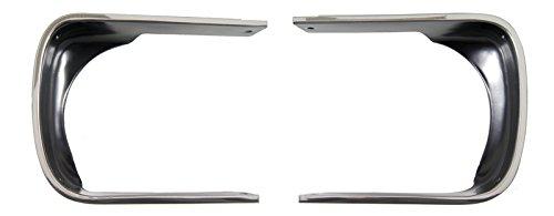 Auto Metal Direct Headlamp Bezels - Pair - 67-68 Camaro (Rally Sport)
