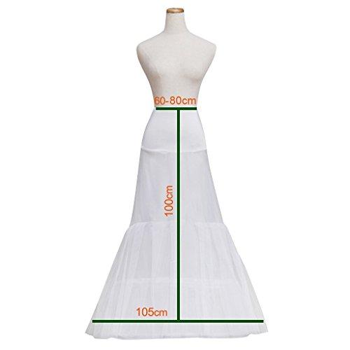 Cosplayitem Unterrock Petticoat Underskirt Crinoline Wedding Bridal Kleid Meerjungfrau Petticoat