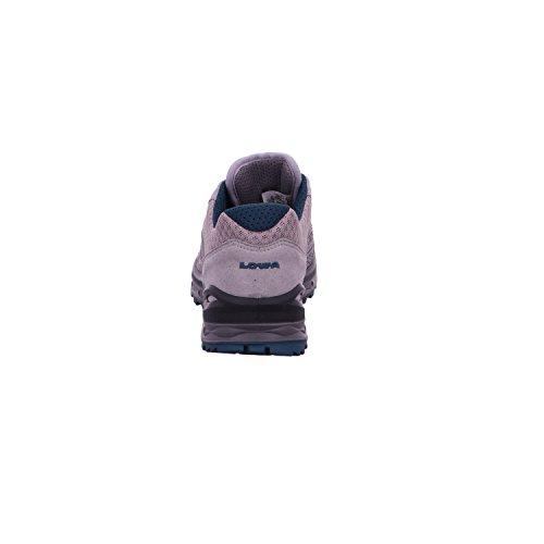 Lowa Aerox GTX LO Ws Femme GORE-TEX Chaussure De Randonnée 320625-9374Gris clair/bleu pétrole