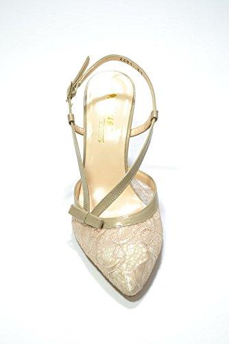 Melluso Decolte' pizzo corda scarpe donna elegante E1554