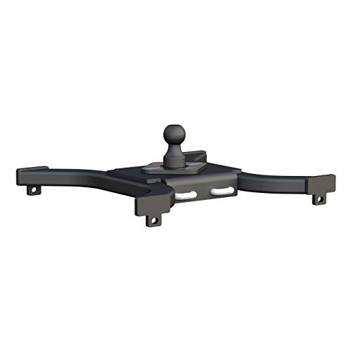 CURT 16085 Spyder 5th Wheel to Gooseneck Adapter Hitch, Fits Industry-Standard Rails, 25,000 lbs., 2-5/16-Inch Ball 5th Wheel Ball Hitch
