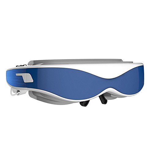 ALL IN ONE 3D VR Headset From LENKEWI-G100 3D Glasses VR HDMI FHD 1080P Mobile Theatre 98 Inch Virtual Display Video Glasses 32GB Blue+white