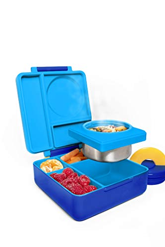 OmieBox Bento Box with Thermos Kids | Insulated
