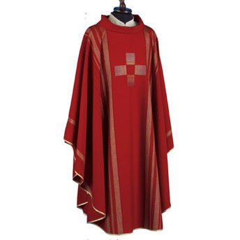 Linea Style Red Chasuble