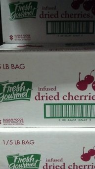 Fresh Gourmet Infused Dried Cherries by Fresh Gourmet
