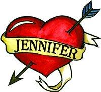 Jennifer Temporaray Tattoo