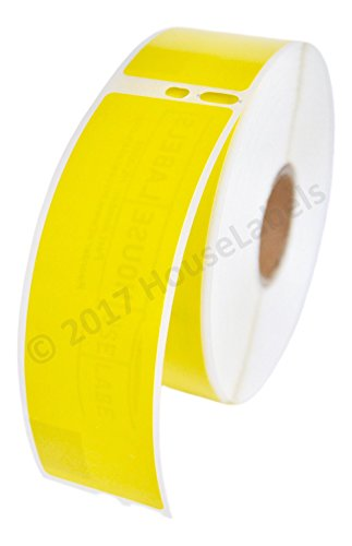 "2 Rolls; 350 Labels per Roll of DYMO-Compatible 30252 YELLOW Address Labels (1-1/8"" x 3-1/2"") -- BPA Free! for cheap"