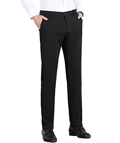 Homovater Mens Plain Dress Pants Formal Dress Suit Trousers Stretch Slim Fit Pants Pocket