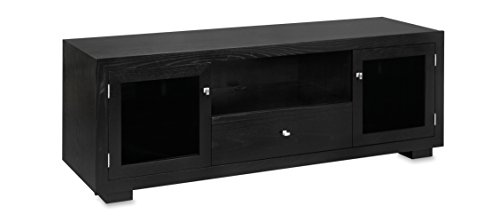 (Haven EX 72-inch Solid Wood TV Stand / TV Console / Media Console for Flat Screen TVs to 80-inch by Standout Designs (Black on Ash))