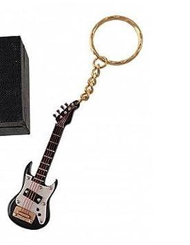 REGALOS LLUNA Llavero Miniatura Musical (Llavero Guitarra ELECTRICA Negra): Amazon.es: Hogar