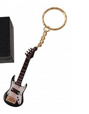 REGALOS LLUNA Llavero Miniatura Musical (Llavero Guitarra ELECTRICA Negra)