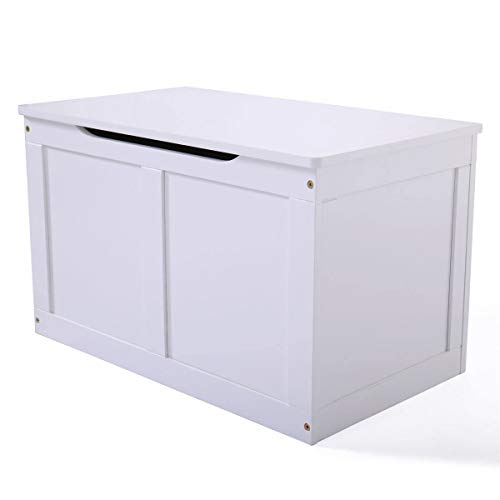 Cypressshop Wood Toy Storage Box Organizer Chest Lid White Color Bedroom Livingroom Home Furniture from Cypressshop