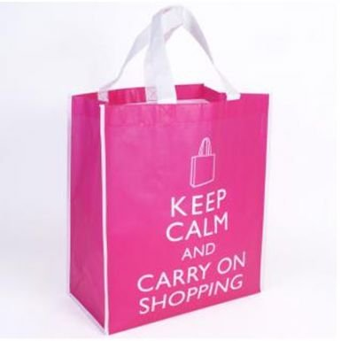 Giant Keep Calm & Carry on Shopping Bag for Life