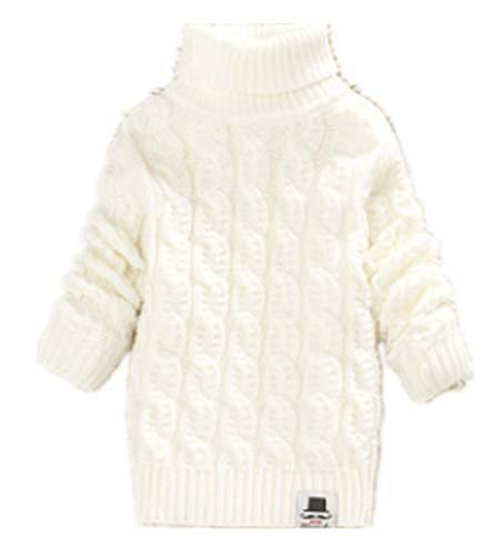 - Nine Minow Boys Girls Turtleneck Sweaters Soft Warm Children's Sweater (3-4 Years, White)