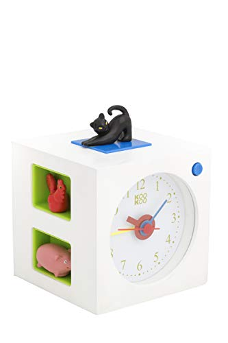 - KOOKOO KidsAlarm White, Alarm Clock for Children Including 5 Farm Animals and Their Wake-up Calls, Natural Field Recordings, MDF Wood Cabinet;