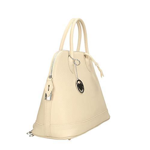 Chicca Bag Pelle Beige Mano Cm A 40x30x15 Made Borsa In Borse Italy T1rwT4q6