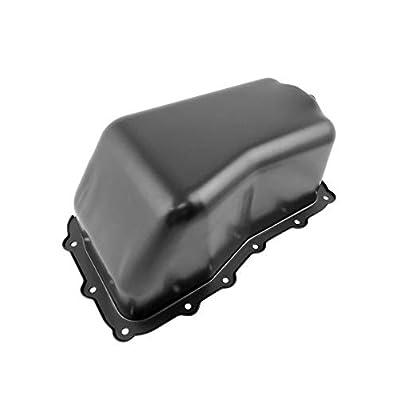 Beasteel 264468 4666153AC CRP44A Steel Engine Oil Pan with Drain Plug Fits 07-11 Jeep Wrangler: Automotive