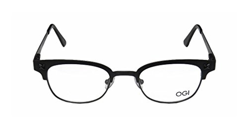 Ogi 3500 MensWomens Optical Ultimate Comfort Designer Full-rim Spring Hinges EyeglassesEye Glasses (47-22-140 Dark Gray)