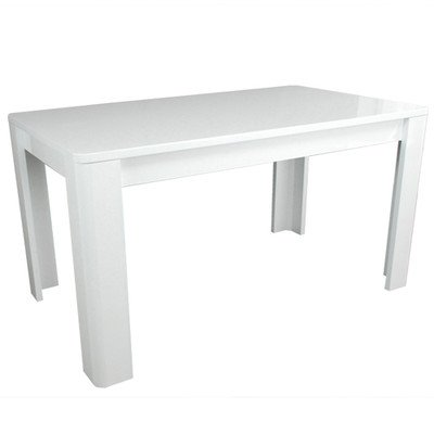 Phoenix Group 615502WE Prana Highgloss Furniture Diningtable, Table