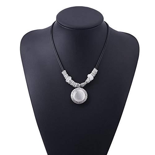 Cool Vintage Pendants Women Leather Necklace Jewelry Opal Pendant ()