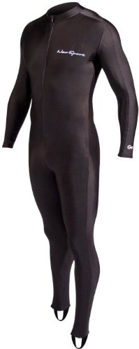 NeoSport Full Body Long Sleeve Lycra Sports Suit for Women and Men - Helps Protect Against UV rays and Skin Irritants - Great for Swimming, Snorkeling, Scuba Diving and All Watersports, Black, XL ()