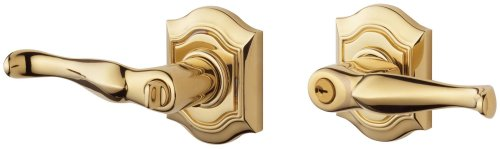 Entry Bethpage Lever Keyed (Baldwin 5237.003.RENT Bethpage Lever Keyed Entry Set, Lifetime Polished Brass)
