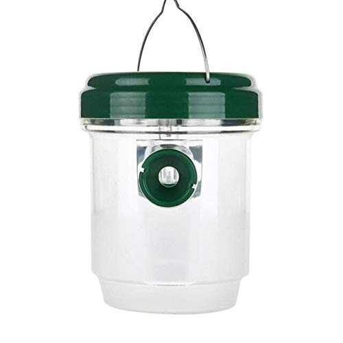 Outdoor LED Plastic Bee Hornet Fly Trap Catcher Hanging in The Tree Non-Toxic Insect Housefly Control Tool   White
