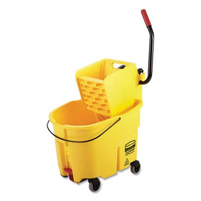WaveBrake 2.0 Bucket/Wringer Combos, 8.75 gal, Side Press with Drain, Yellow