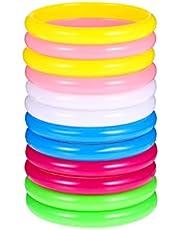 NUOBESTY Plastic Bangle 12pcs Color Resin Wristbands Fashionable Bracelets Bangle Bracelets Plastic Jewelry for Teenager Adults ( Random Color )
