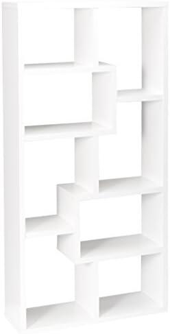 Multiple Cubed Rectangular Bookcase Weathered Grey