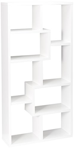 Multiple Cubed Rectangular Bookcase White