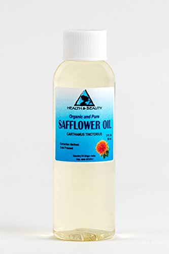 Safflower Oil Organic Carrier High Oleic Cold Pressed Premium 100% Pure 2 oz