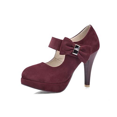 36 5 BalaMasa Plateforme Bordeaux Femme APL10496 Rouge qAqUfw