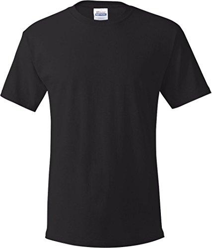 Herren TAGLESS ComfortSoft Crewneck T-Shirt_Black_2XL