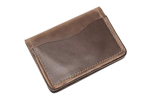 (Popov Leather - Front Pocket Wallet for Men Horween Chromexcel, Minimalist and Handmade)