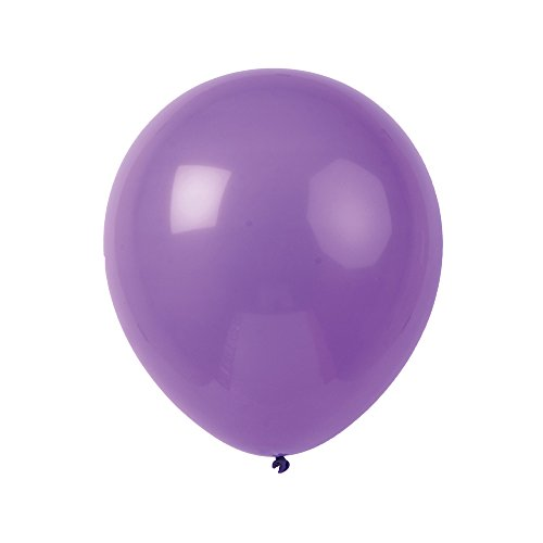 Topenca Supplies Party 12-Inch Solid Latex Balloons, 50-Pack, Purple (Solid Balloons)