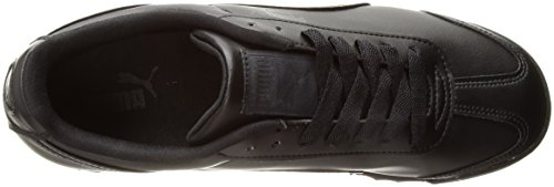 PUMA Men's Roma Basic Leather Sneaker,Nero/Nero,11 D US