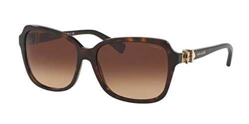 Coach Womens Sunglasses (HC8179) Tortoise/Brown Acetate - Non-Polarized - 58mm