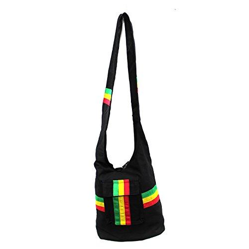 Rasta Imposta - Bolso de tela de poliéster para mujer Negro negro talla única