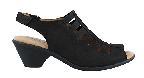 Comfortiva Women's, Faye Mid Heel Sandal Black 8.5 W