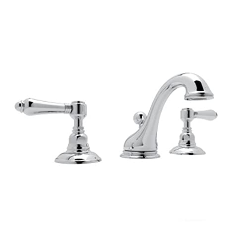 Inca Brass Rohl A1408LMIB-2 Country Bath Viaggio Widespread Lavatory Faucet with Metal Levers Pop-Up and C Spout
