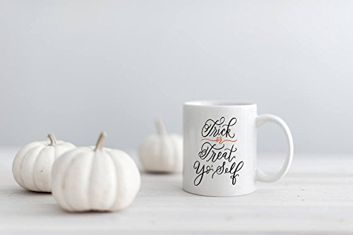 SAYOMEN - Trick or Treat Yo' Self Mug | Halloween Mug | Fall Mug | Coffee Mug | Trick or Treat | October Mug MUG 11oz -