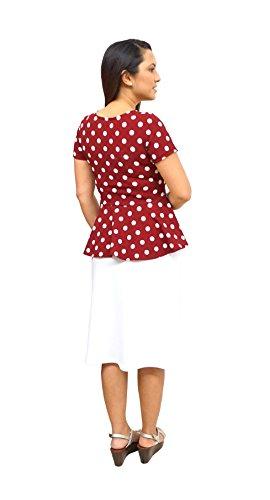 DBG - Camisas - para mujer Red White Polka Dots
