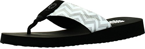 Yellow Box Womens Yulisa Fashion Flip Flop Sandals, Silver,7