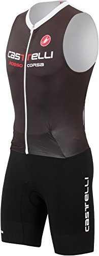Castelli Body Paint SR Tri Suit - Sleeveless - Men's Black/White, XXL