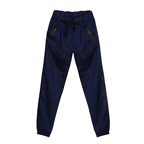 Low Crotch Joggers Harem Pants Stylish Hip Hop Drawstring Slim Fit Sweatpants Trousers Workout Running Pants Navy